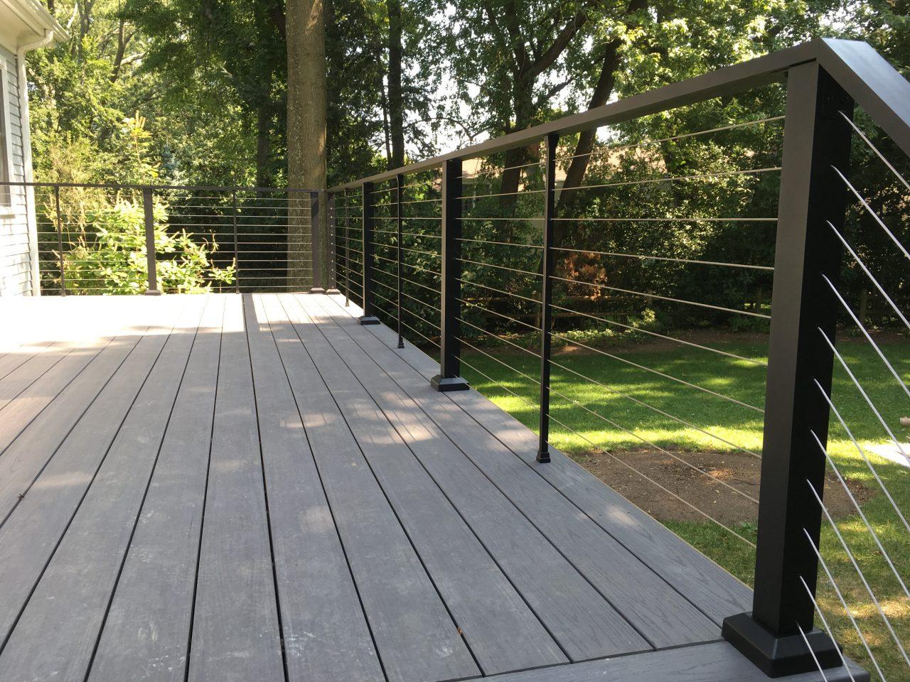 Aluminum Porch Hand Railing Installation Jackson